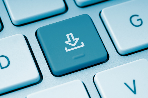 Push Button「Download button on a computer keyboard」:スマホ壁紙(5)