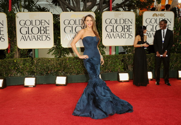 Strapless Evening Gown「69th Annual Golden Globe Awards - Arrivals」:写真・画像(19)[壁紙.com]