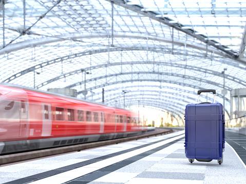 Railroad Station「Luggage at train station」:スマホ壁紙(14)