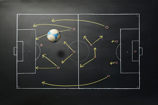 Chalk - Art Equipment「Soccer on Blackboard」:スマホ壁紙(8)
