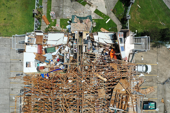 Damaged「Hurricane Laura Makes Landfall On US Gulf Coast」:写真・画像(15)[壁紙.com]
