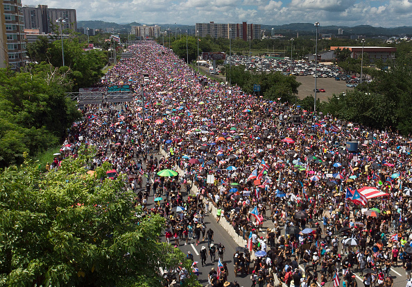 Horizontal「Protesters Demand Resignation Of Puerto Rico's Governor Ricardo Rossello」:写真・画像(7)[壁紙.com]