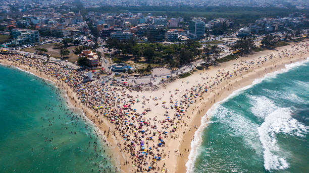 A Sunny Sunday at Recreio and Reserva Beaches and Piscinão de Ramos Amidst High Numbers of Infected People by the Coronavirus (COVID - 19):ニュース(壁紙.com)