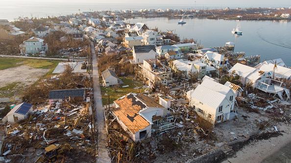 Damaged「Hurricane Dorian Slams Into The Bahamas As Category 5 Storm」:写真・画像(13)[壁紙.com]
