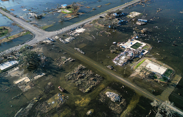 Damaged「Hurricane Delta Takes Aim At Louisiana's Gulf Coast」:写真・画像(18)[壁紙.com]