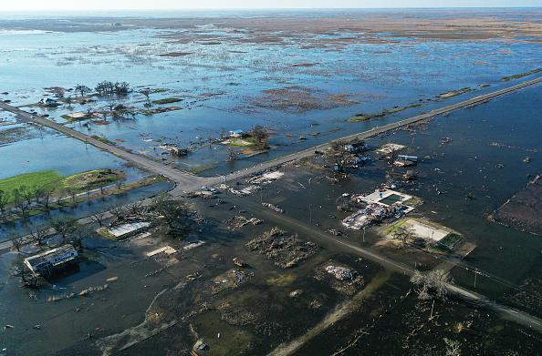 Damaged「Hurricane Delta Takes Aim At Louisiana's Gulf Coast」:写真・画像(14)[壁紙.com]