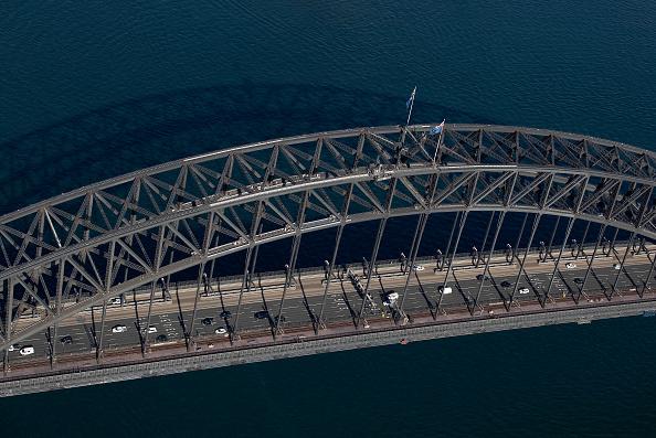 Sydney Harbor Bridge「Aerial Views Of Sydney As Australia Sees Steady Decline In New Coronavirus Cases」:写真・画像(15)[壁紙.com]