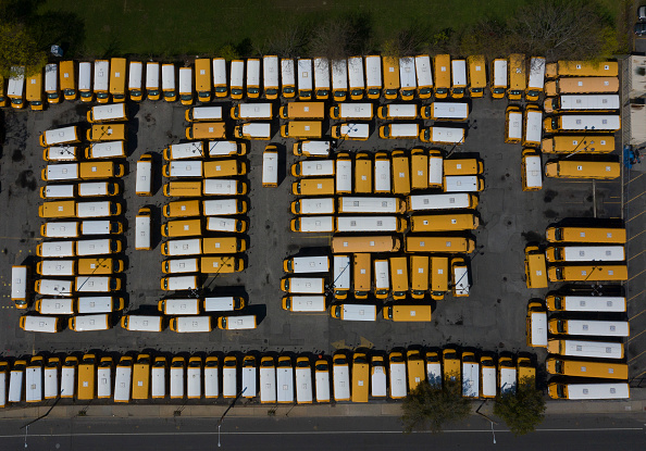 School Bus「Coronavirus Pandemic Causes Climate Of Anxiety And Changing Routines In America」:写真・画像(19)[壁紙.com]
