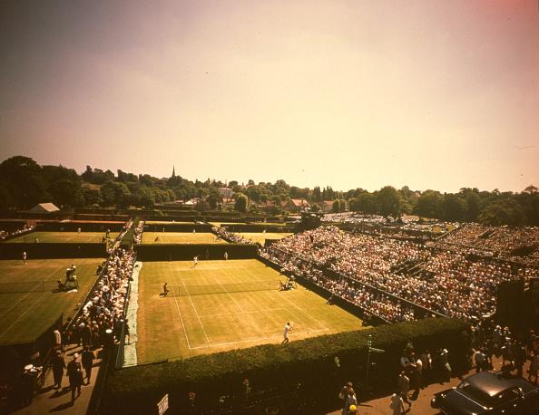 テニス「Aerial Wimbledon」:写真・画像(1)[壁紙.com]