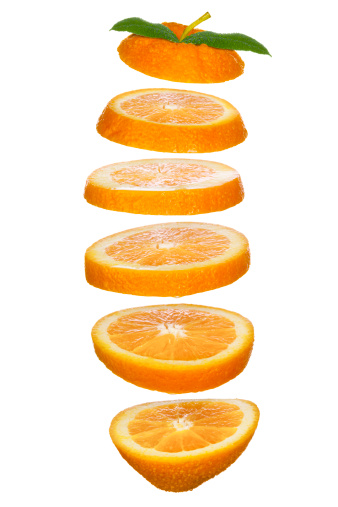 Slice of Food「Fresh-Cut Orange Slices Tossed in the Air」:スマホ壁紙(5)