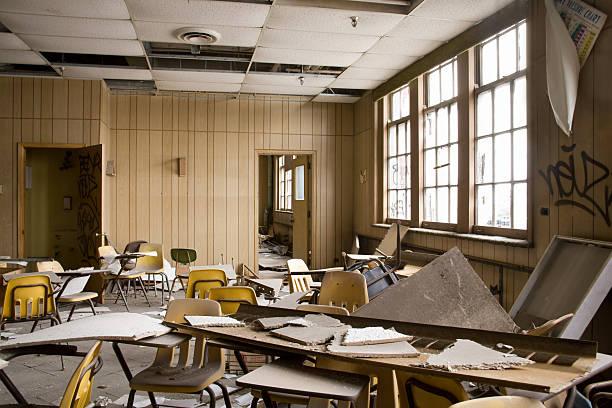 Abandoned School:スマホ壁紙(壁紙.com)
