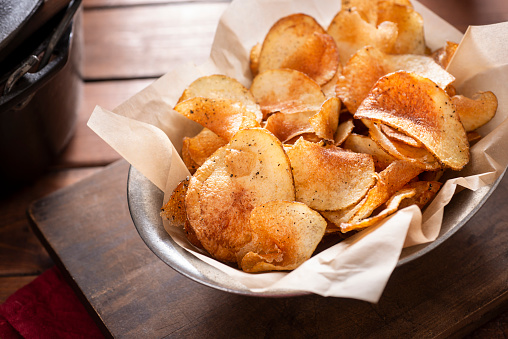 Savory Food「Homemade Potato Chips」:スマホ壁紙(15)