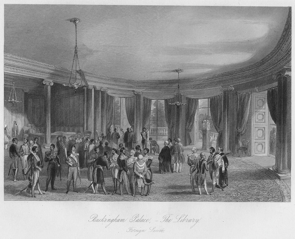 Arizona「Buckingham Palace,- The Library. Foreign LeveÚ」:写真・画像(2)[壁紙.com]