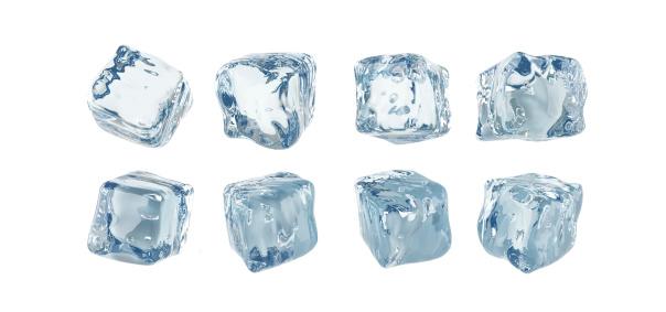 透明「アイスキューブ白背景」:スマホ壁紙(12)