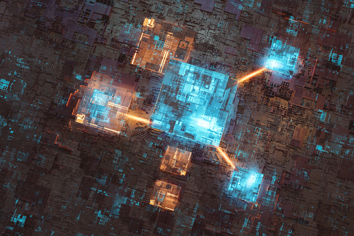 CPU「Abstract futuristic computer network detail background」:スマホ壁紙(1)