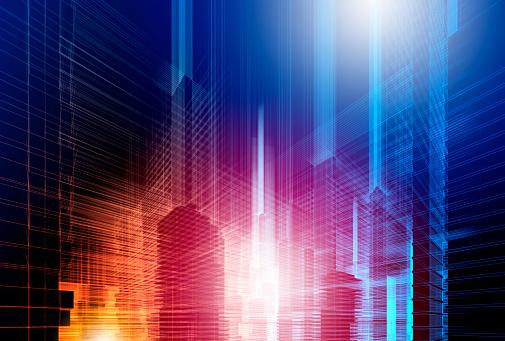 Virtual Reality「Abstract futuristic city」:スマホ壁紙(13)