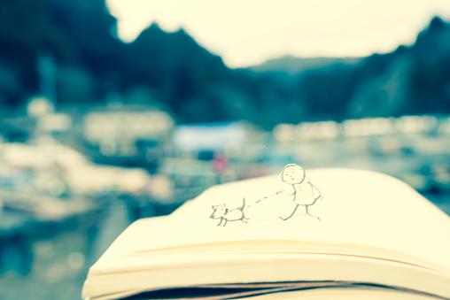 Paper Craft「Walk the dog」:スマホ壁紙(2)