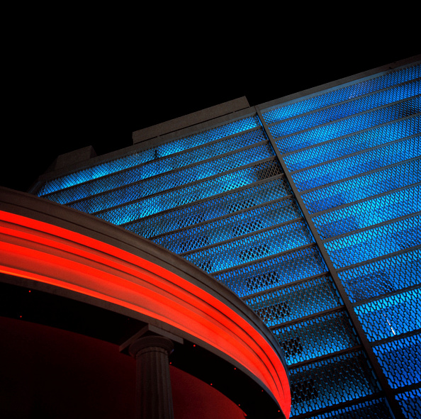 Blue「Neon lighted parking garage」:写真・画像(14)[壁紙.com]