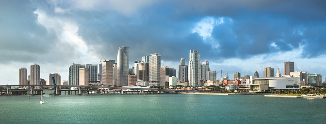 Miami Beach「Miami Florida daytime panorama skyline」:スマホ壁紙(3)