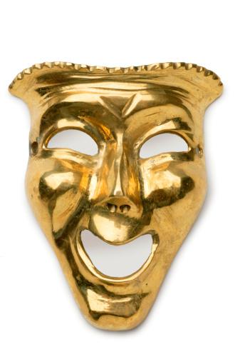 Arts Culture and Entertainment「Gold Drama Mask」:スマホ壁紙(19)