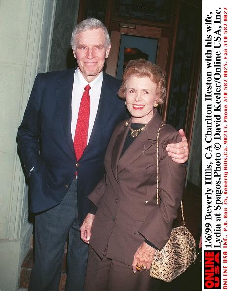 David Keeler「Charlton Heston With His Wife Lydia At Spagos」:写真・画像(8)[壁紙.com]