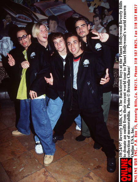 1990-1999「10/24/97 Beverly Hills, CA. The Backstreet Boys at the Planet Hollywood Beverly Hills to donate an o」:写真・画像(4)[壁紙.com]