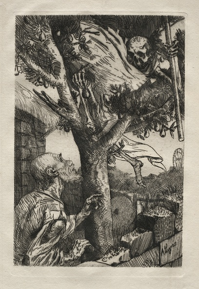 Etching「La Mort Dans Le Piorier. Creator: Alphonse Legros (French」:写真・画像(5)[壁紙.com]