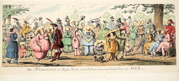 パンツ「The Bloomers In Hyde Park Or An Extraordinary Exhibition For 1852」:写真・画像(5)[壁紙.com]