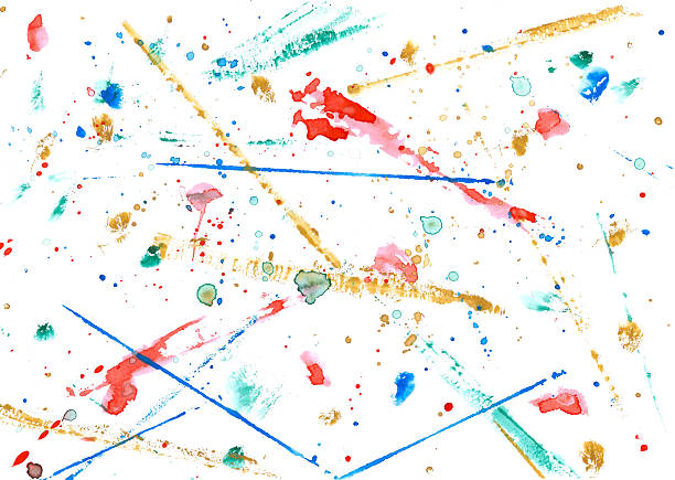colorful watercolor strokes, dots and stains:スマホ壁紙(壁紙.com)