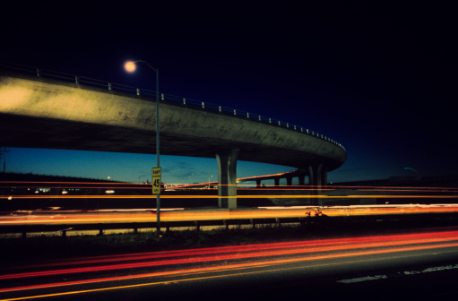 Close To「Overpass with blurred traffic」:スマホ壁紙(6)
