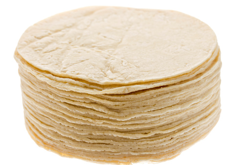 Toasted Food「Stack of Mexican Tortillas Isolated」:スマホ壁紙(13)