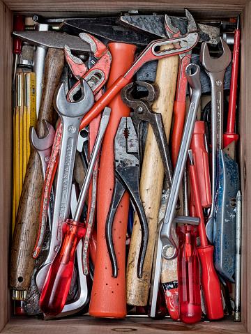 赤「Various tools」:スマホ壁紙(18)
