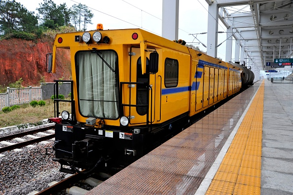 Finance and Economy「Maintenance vehicle at Ningde station on the Ningbo - Wenzhou - Fuzhou High Speed line」:写真・画像(11)[壁紙.com]