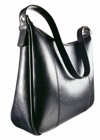 Clutch Bag「A black leather zipper top handbag」:スマホ壁紙(16)