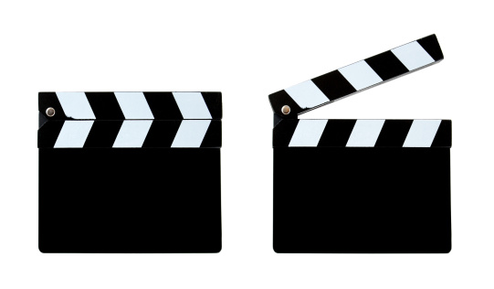 Director「Blank clapper board (Clipping Path!) isolated on white background」:スマホ壁紙(16)