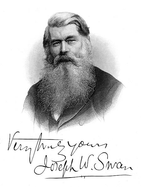 Light Bulb「Joseph Wilson Swan, c1880. Artist: Anon」:写真・画像(17)[壁紙.com]