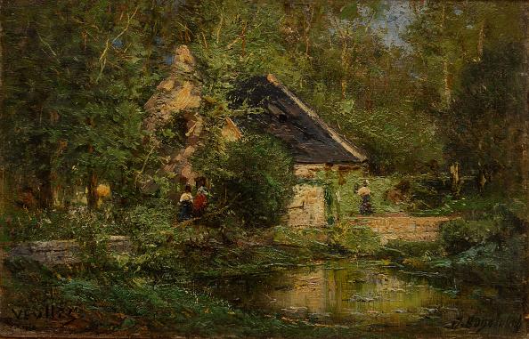 風景(季節別)「Mill In Veules 1882-1883」:写真・画像(19)[壁紙.com]