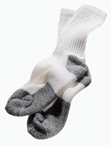 Casual Clothing「White and grey gym men's sweat or tube socks pair」:スマホ壁紙(19)
