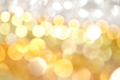Defocus「白とゴールドの光の背景」:スマホ壁紙(16)