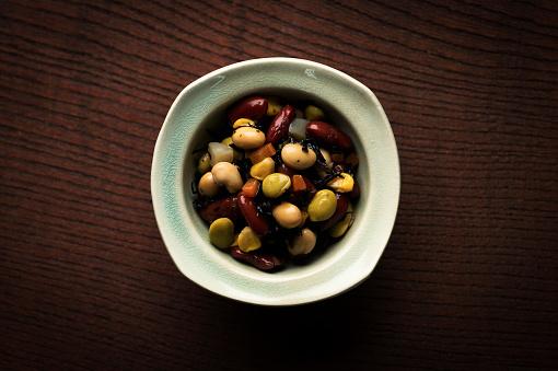 和食「Japanese bean and hijikia fusiformis salad」:スマホ壁紙(18)