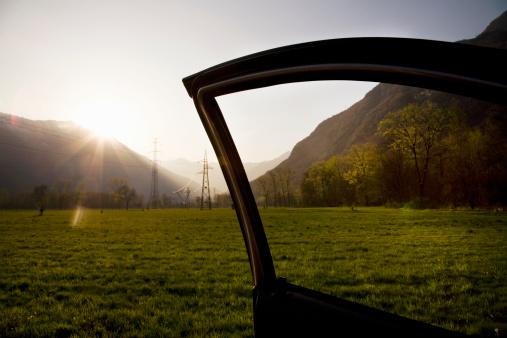 Piedmont - Italy「Car's door open on a meadow」:スマホ壁紙(11)