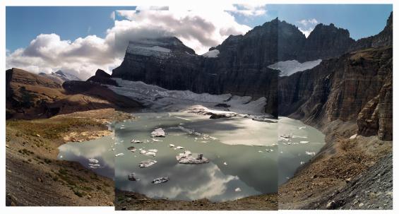 Grinnell Glacier「USA, Montana, Glacier National Park, Grinnell Glacier, montage」:スマホ壁紙(12)