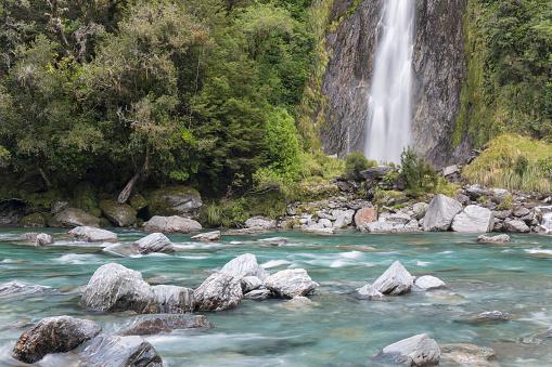Westland - South Island New Zealand「Thunder Creek Falls, Haast Pass, Mount Aspiring NP」:スマホ壁紙(17)