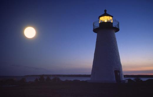 Beacon「Full Moon over Lighthouse」:スマホ壁紙(13)