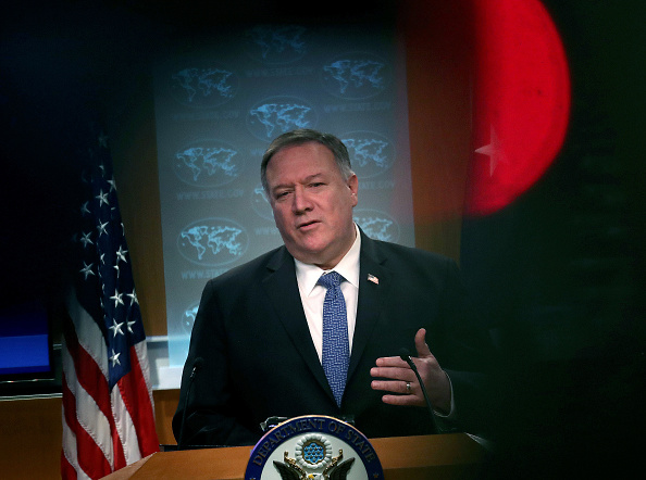 Taliban「Secretary Of State Pompeo Speaks To Media In Briefing Room At State Department」:写真・画像(9)[壁紙.com]
