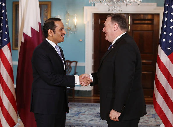 Persian Gulf Countries「Secretary Of State Mike Pompeo Meets With Qatari Foreign Minister Sheikh Mohammed Bin Abdulrahman Al Thani At The State Dept.」:写真・画像(16)[壁紙.com]