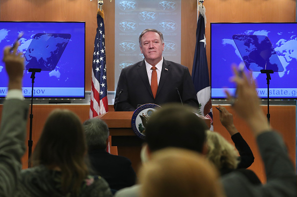 Politician「Secretary Of State Pompeo Holds At Press Briefing On Iran At The State Department」:写真・画像(9)[壁紙.com]