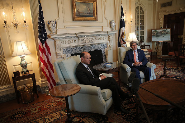Win McNamee「Secretary Of State Kerry Meets With Saudi Foreign Minister Adel al-Jubeir」:写真・画像(1)[壁紙.com]