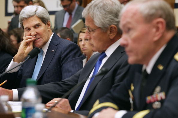 John Kerry「Kerry, Hagel, Dempsey Testify Before House Armed Services Committee On Syria」:写真・画像(7)[壁紙.com]