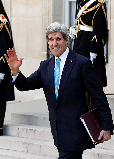 U.S. Secretary of State John Kerry Comes At The Elysee Palace For A Diplomatic Meeting On Lebanon And Ukraine:ニュース(壁紙.com)
